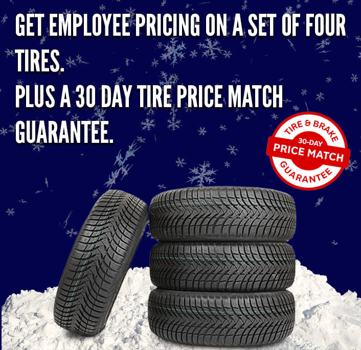 GET EMPLOYEE PRICING ON TIRES
