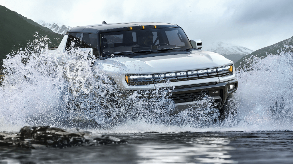 Hummer EV Pickup in water