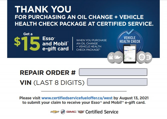 Thank you card for vehicle servicing