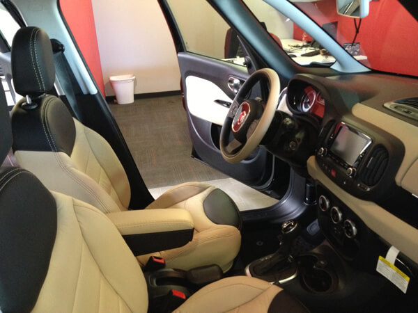 Here Is Our First Custom Leather Interior For A 2014 FIAT 500L. Upgrade  Today!