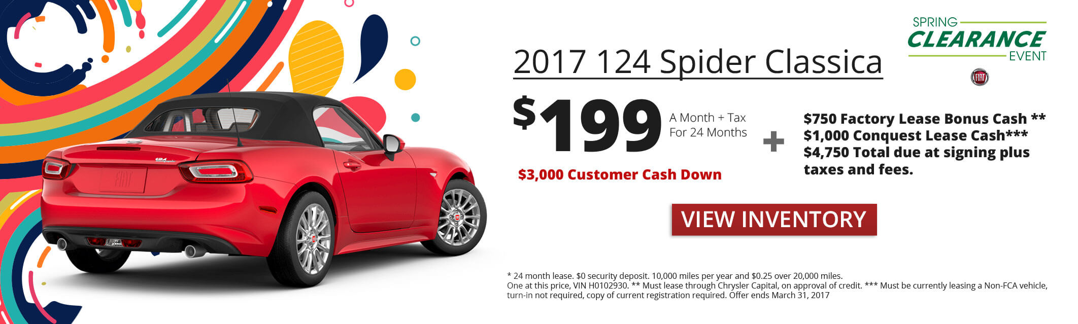 124 Spider Lease