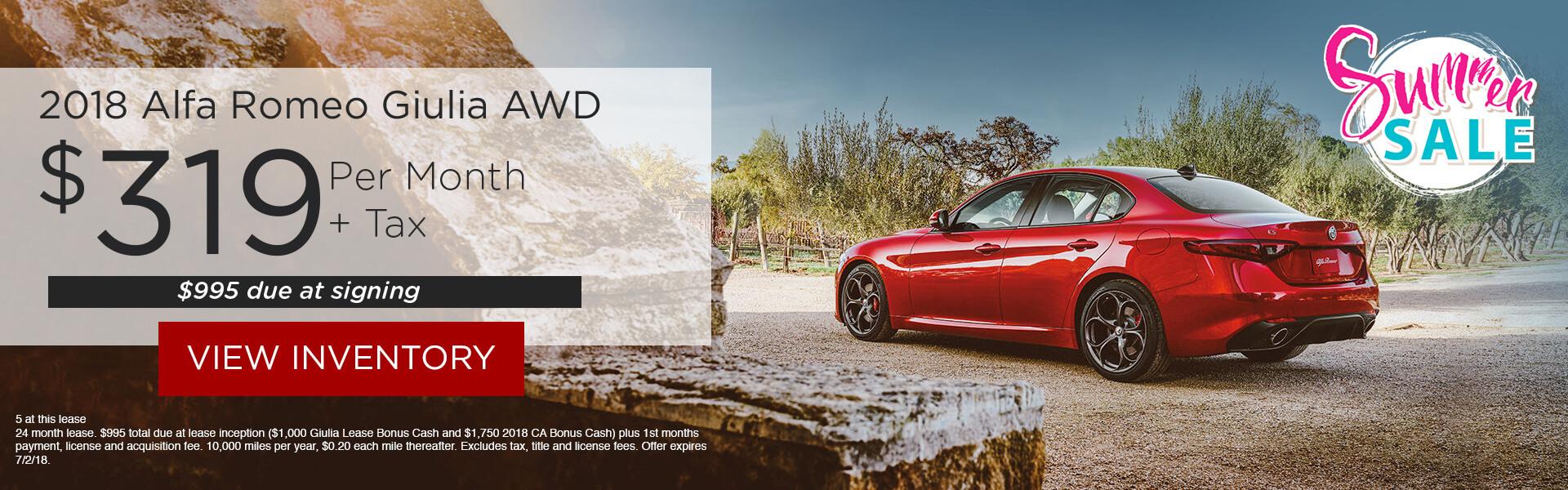 Alfa Romeo 2018 Giulia RWD