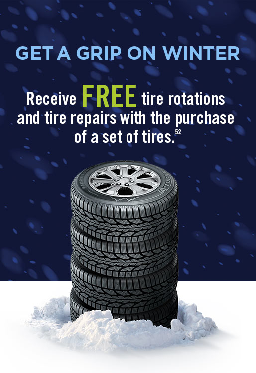 Free Tire Rotations and Tire Repairs with the Purchase of a Set of Tires