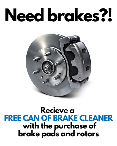 Free Can of Brake Cleaner!