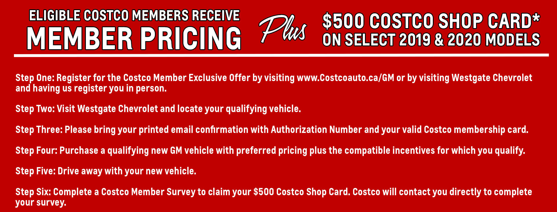 finding your costco member price at westgate chevrolet