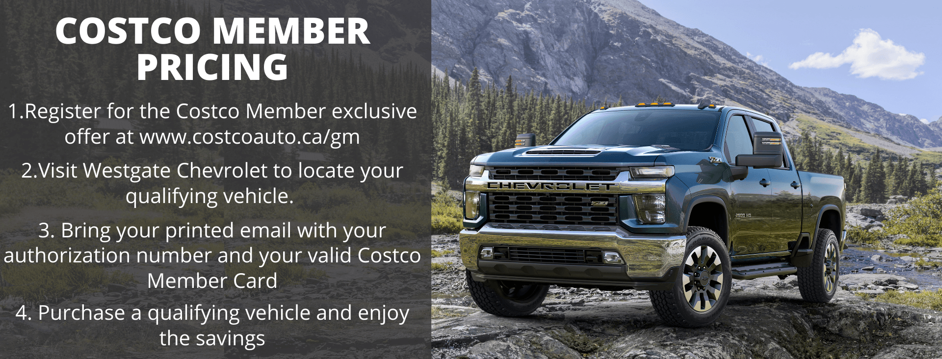 Costco Member Bonus is now available on select 2021 models