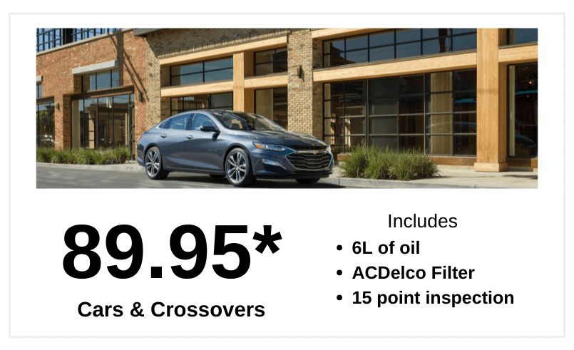 Cars & Crossover oil change price