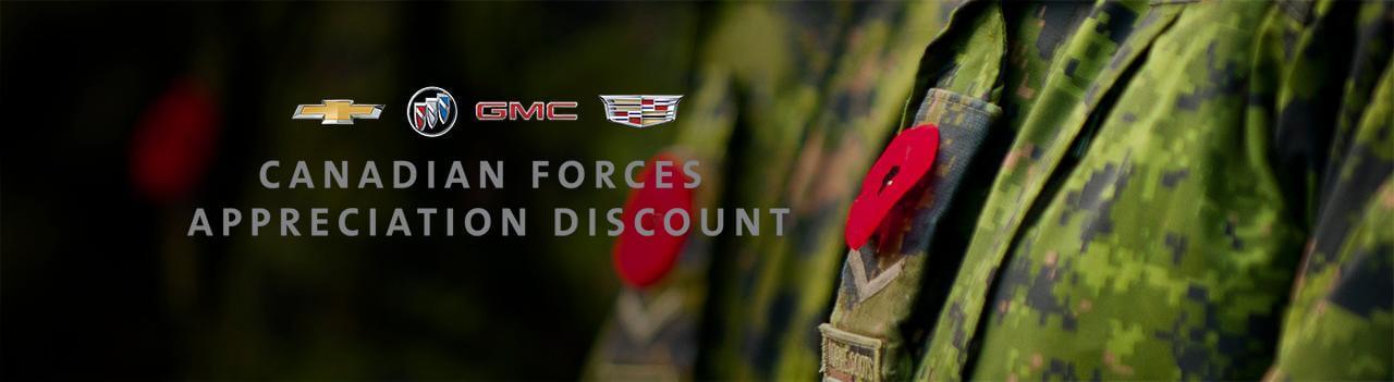 GM Canadian Forces Appreciation Discount