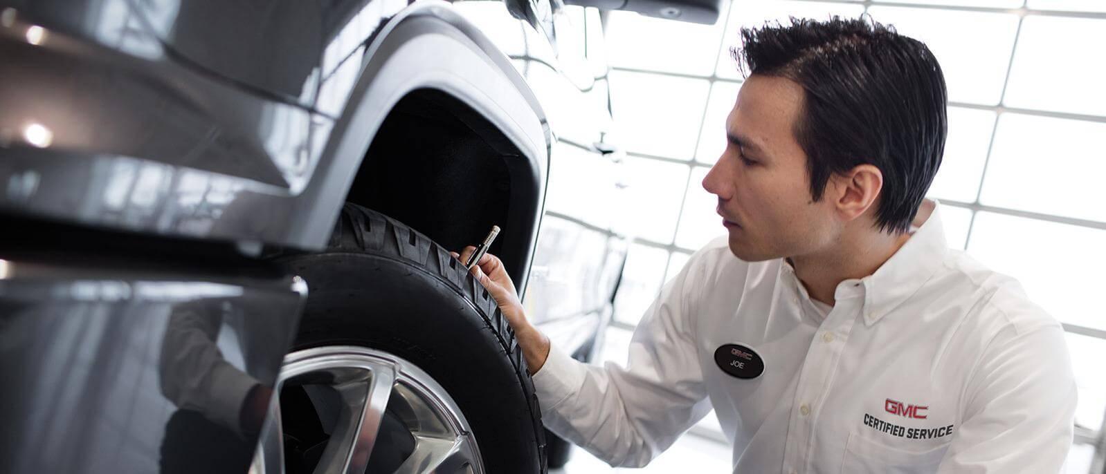 Checking tire tread depth