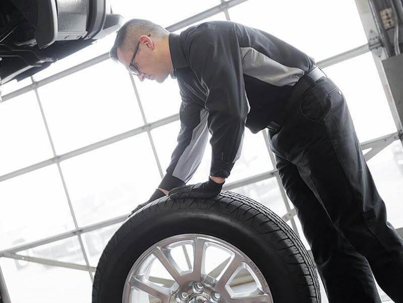 preparing to mount a wheel