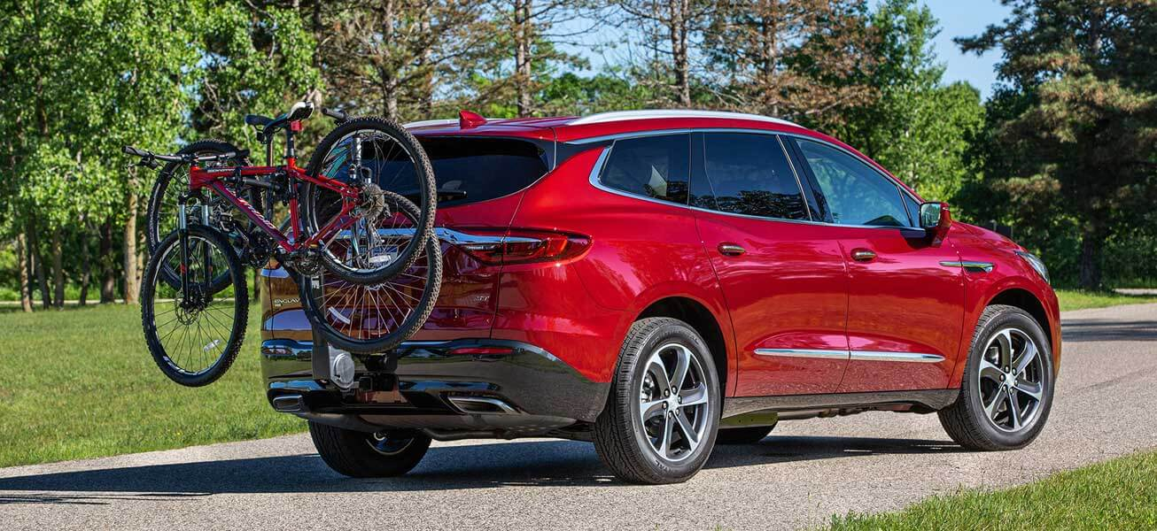 2020 Buick Enclave family suv with bike rack