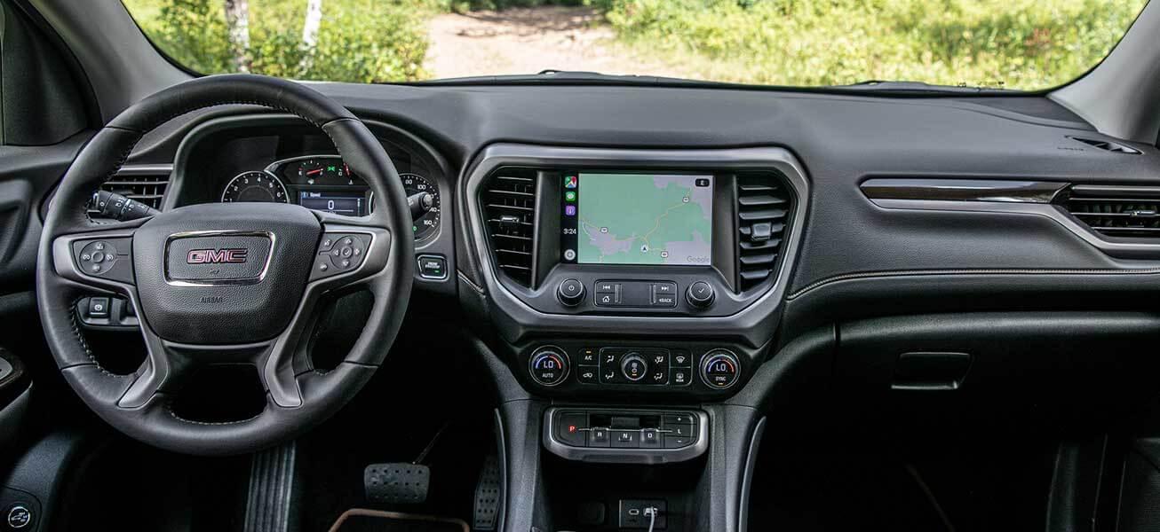 2020 GMC Acadia AT4 interior cockpit view