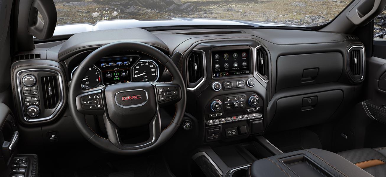 2020 GMC Sierra 2500HD interior cockpit view