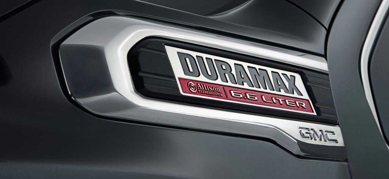2020 GMC Sierra 3500HD Duramax Diesel badge
