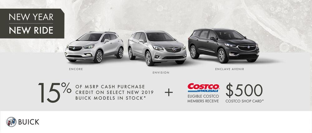 Buick SUV Costco 15% off MSRP