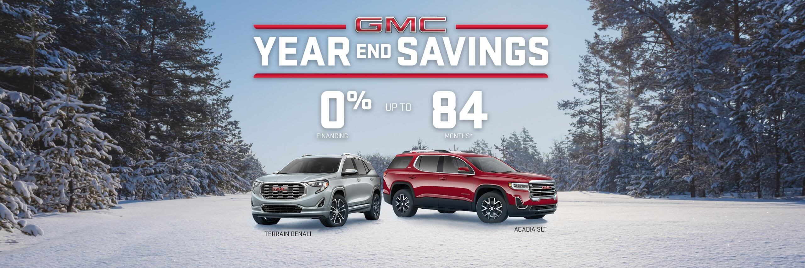GMC Year End Savings SUVs