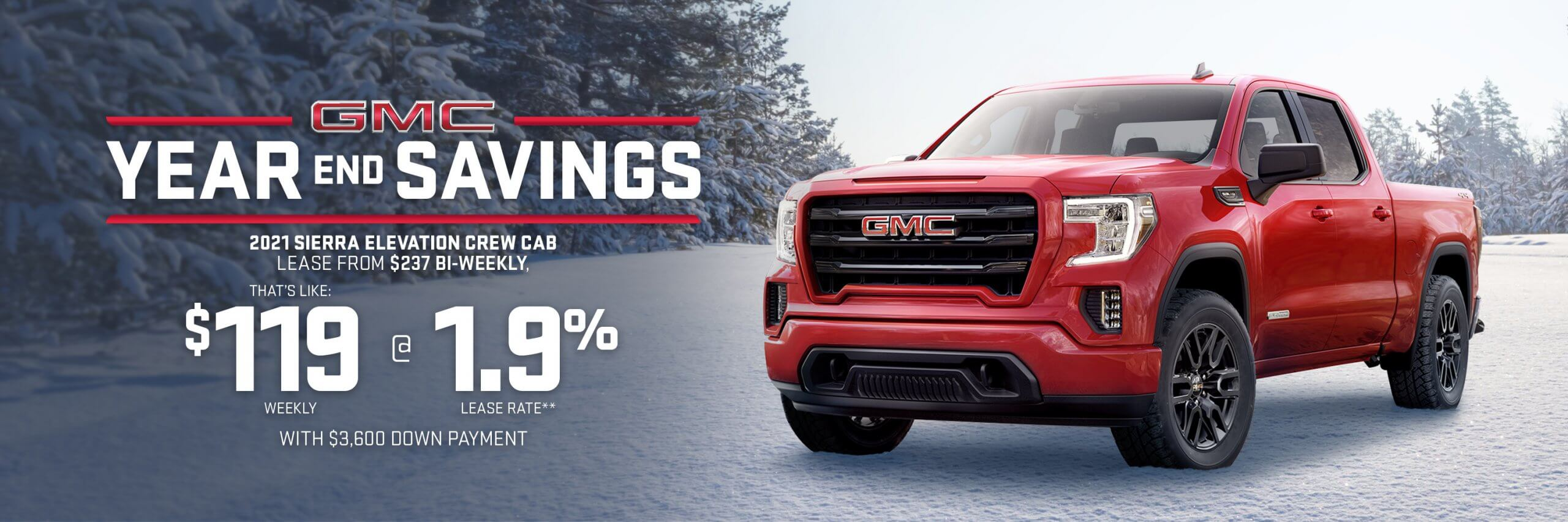 GMC Year End Savings Sierra