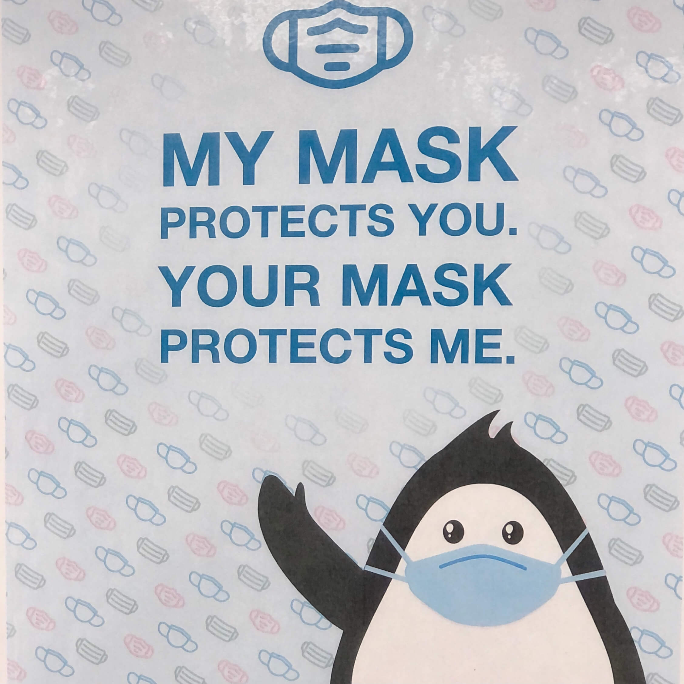 My mask protects you, your mask protects me