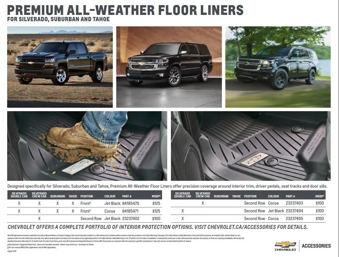 GM Floor Liners & Mats