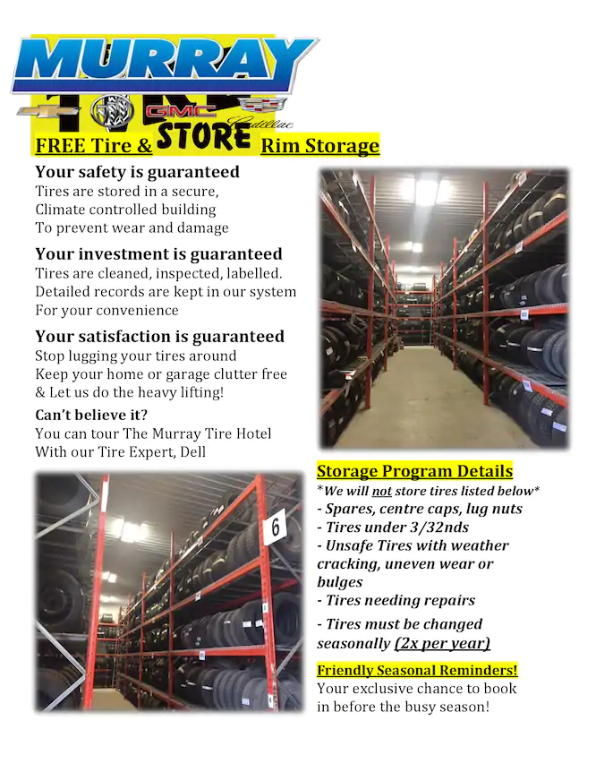Murray Free Tire & Rim Storage