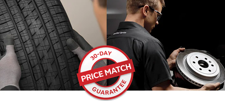 30 Day Tire & Brake Price Match Guarantee in Moose Jaw
