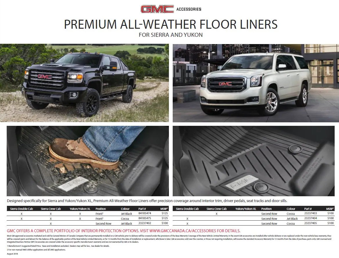 Premium All-Weather Floor Liner