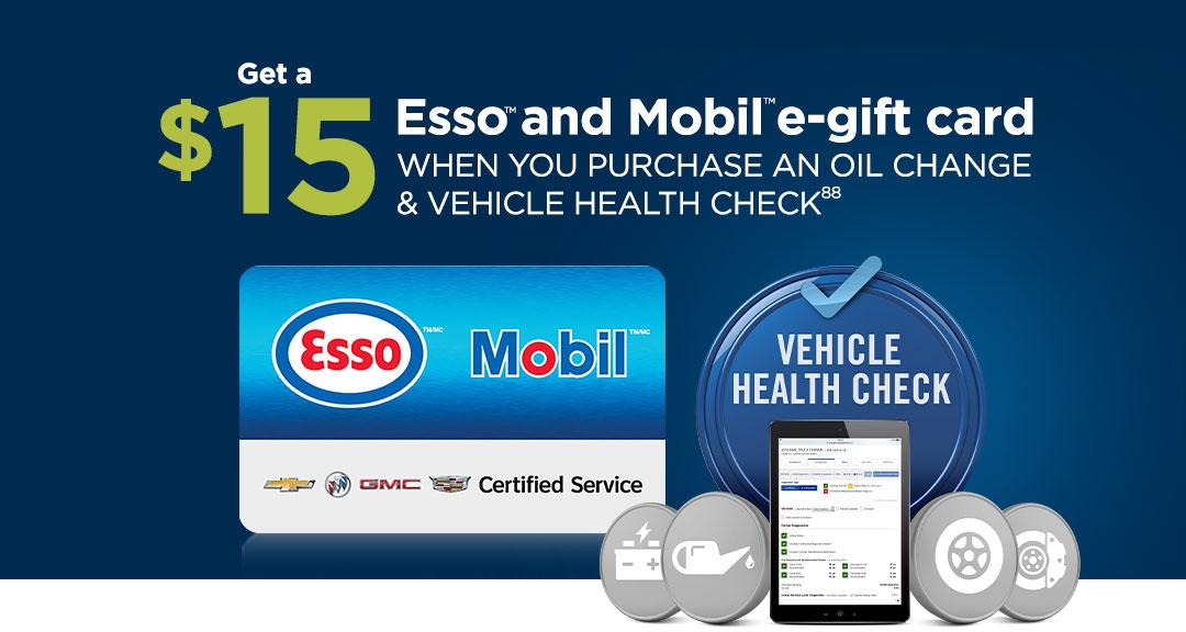 $15.00 ESSO & MOBIL E-Gift Card!!