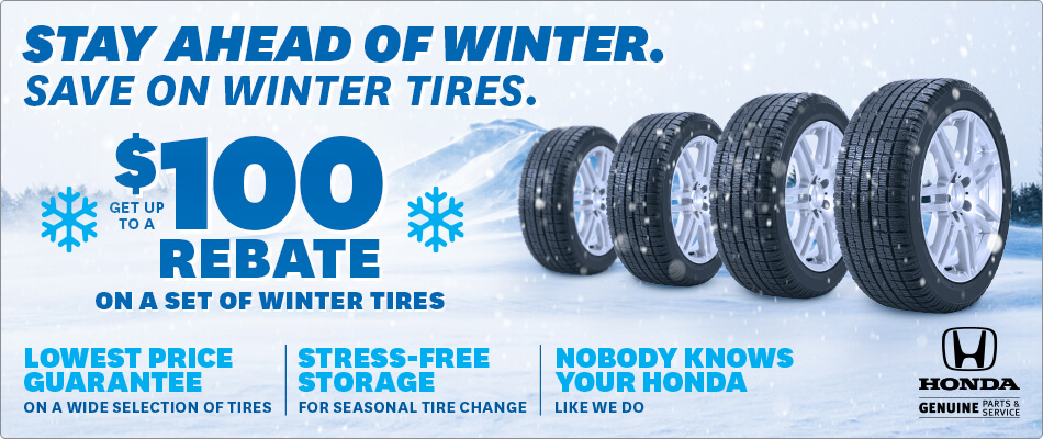 Stay Ahead of Winter. Save on Winter Tires.
