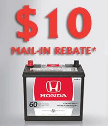 Honda Battery Mail-in Rebate