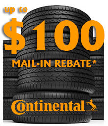 Continental Tire Spring Mail-in Rebate
