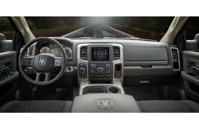 2020 Ram 1500 Classic winnipeg, manitoba interior shot of front seating, steering wheel, and dashboard layout