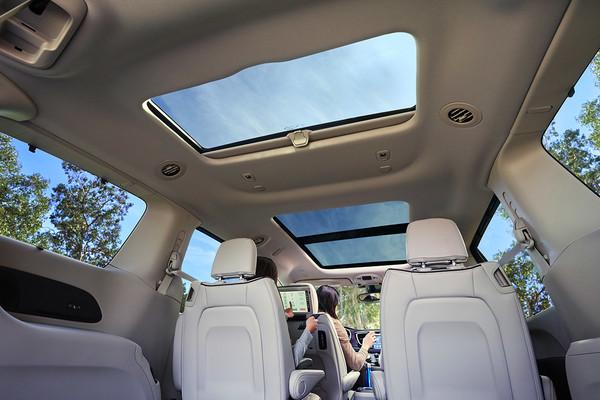tri-pane panoramic sunroof