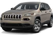 Jeep Cherokee near Silverado title=