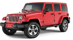 Jeep Wrangler Unlimited in Angelus Oaks