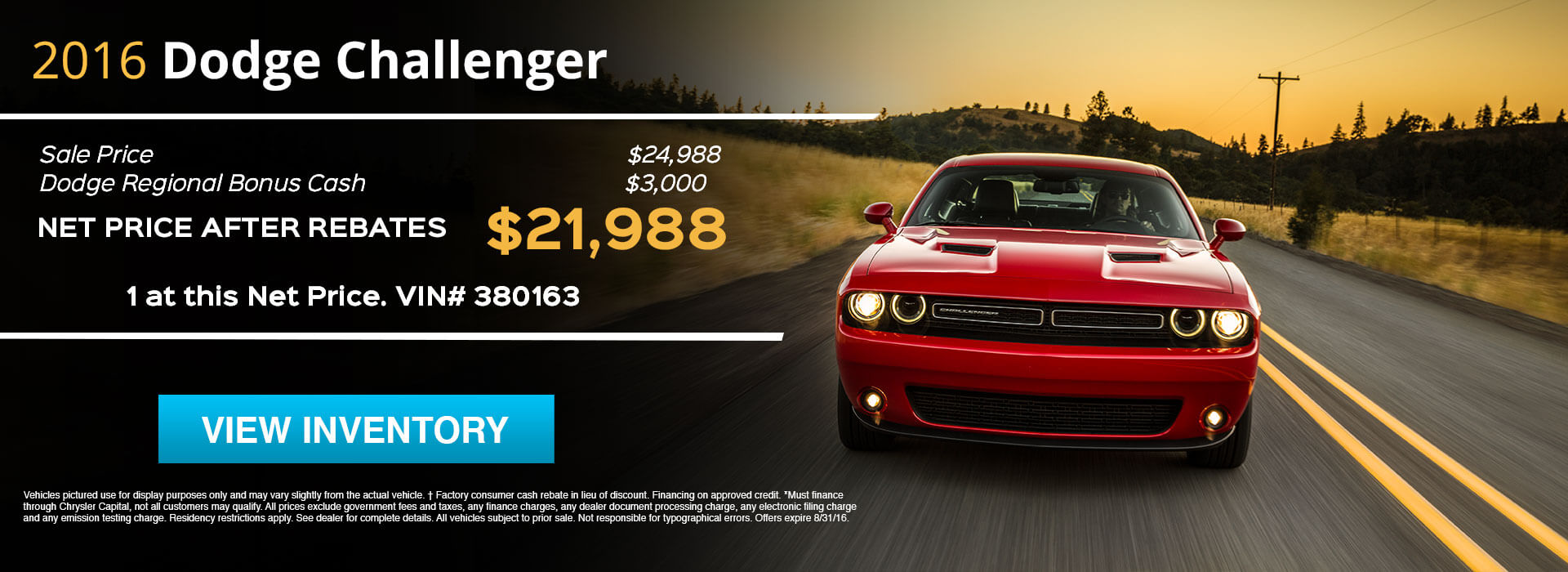 2016 Dodge Challenger HP
