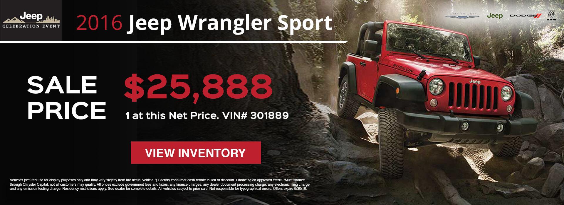 2016 Jeep Wrangler HP