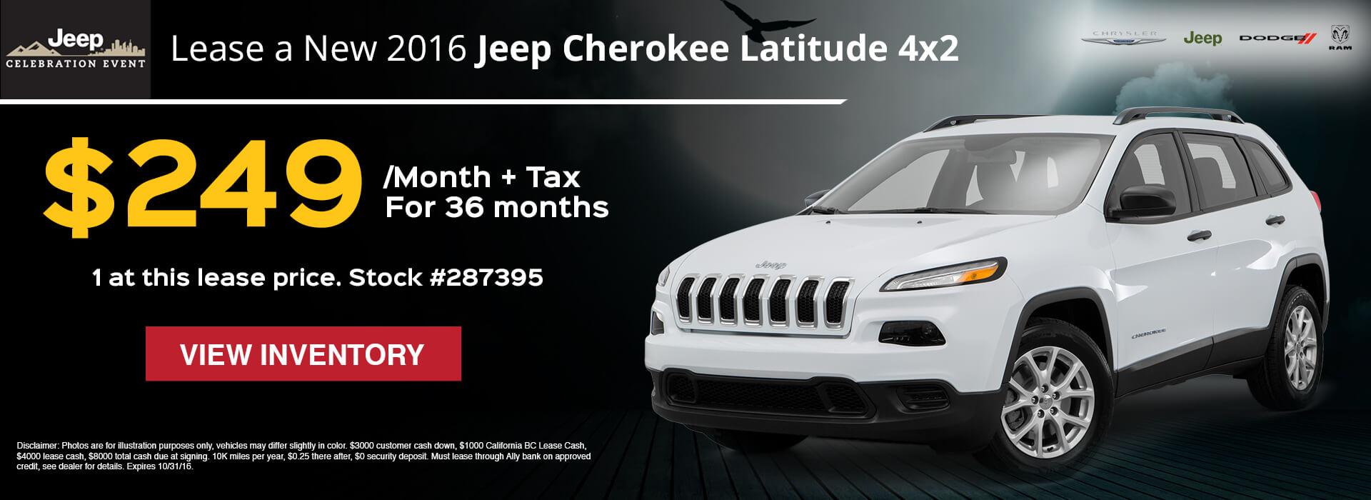 2016 Cherokee Latitude