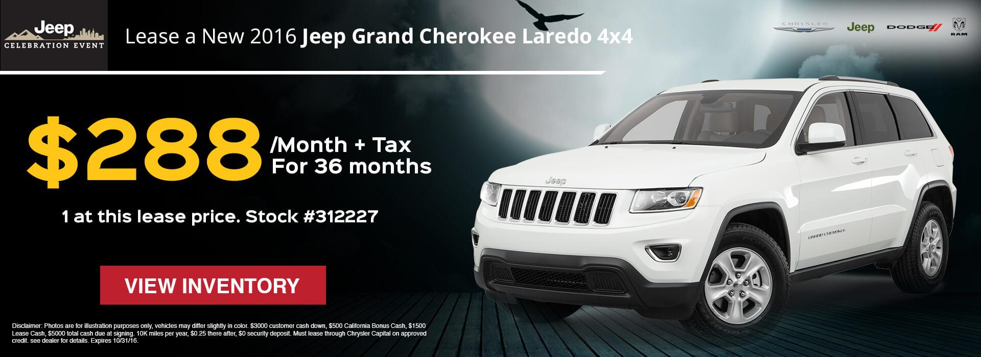 2016 Grand Cherokee Laredo