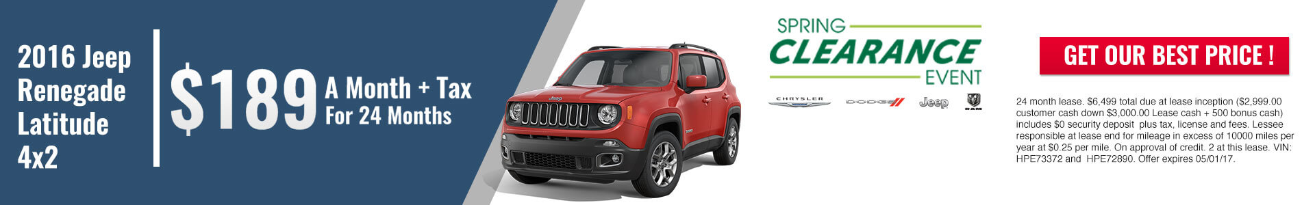 Jeep Renegade SRP