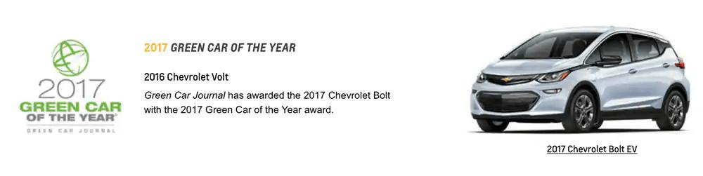 GM Awards 2017 Green Car