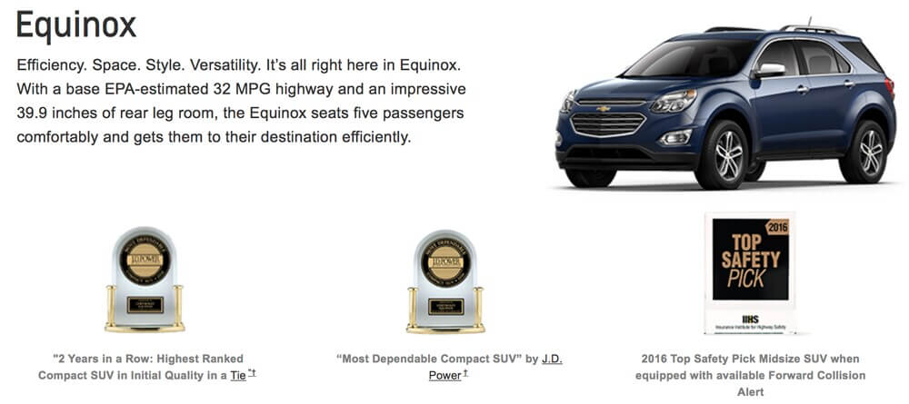 GM Awards Equinox