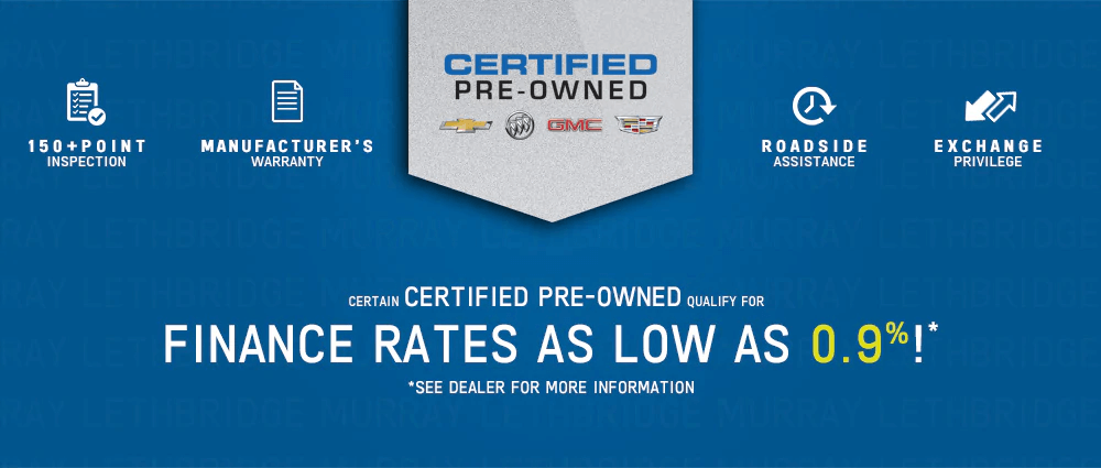 GM Certified Pre-Owned Vehicles Benefits
