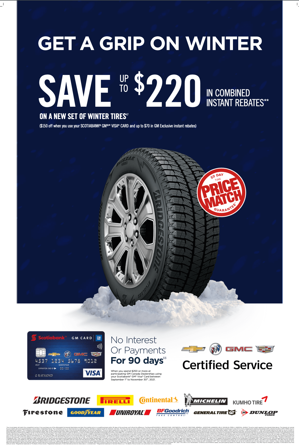 Save $220 on winter tires