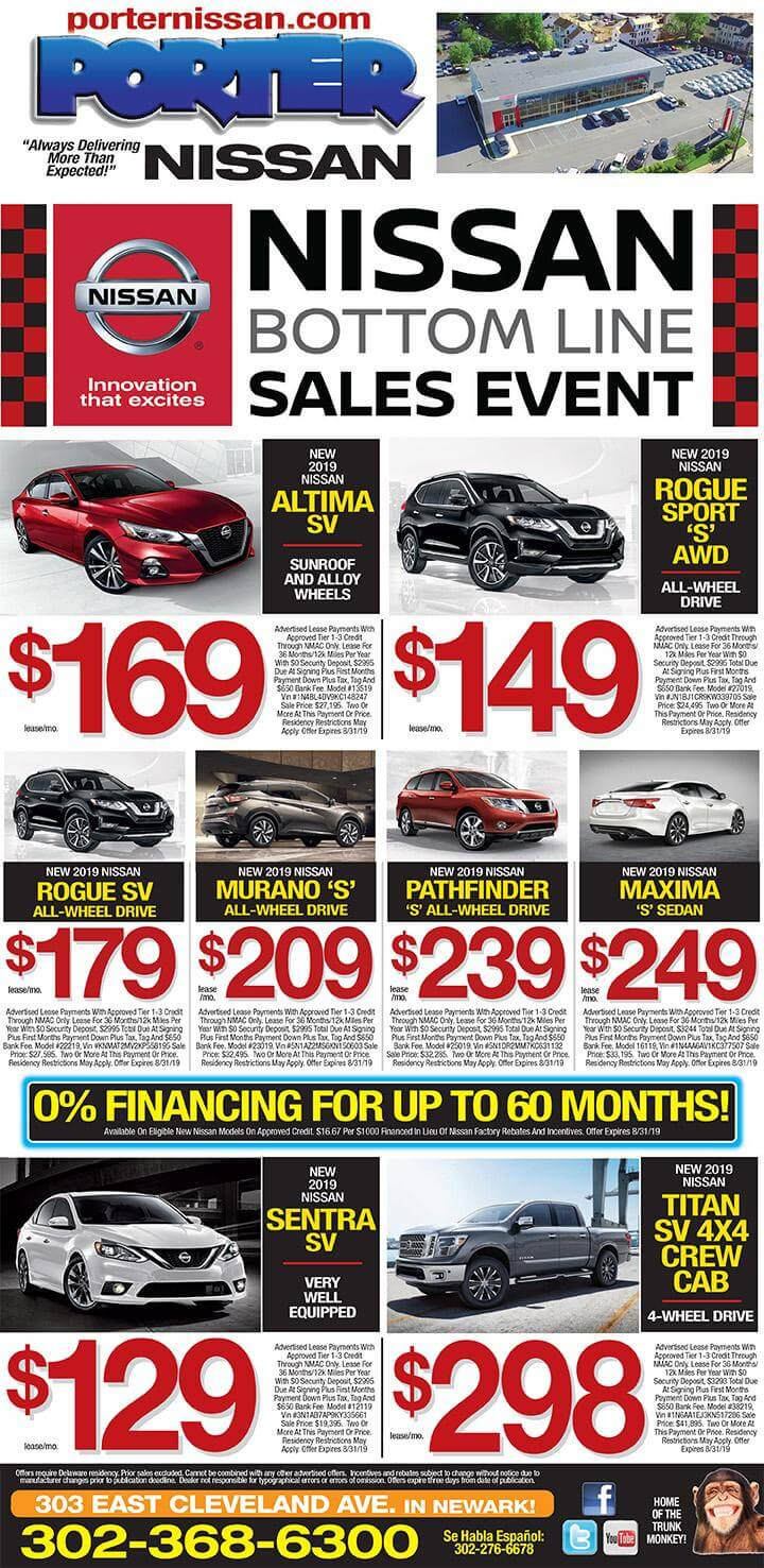 Nissan Dealers In Delaware >> Current Specials I Check Out Our Specials On Nissan Cars Now