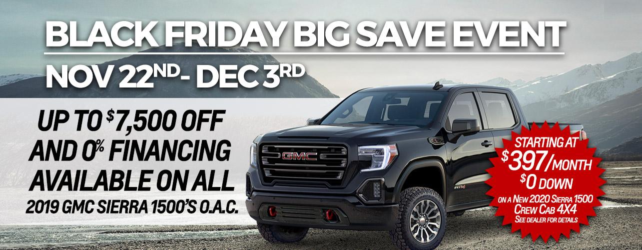 BLACK FRIDAY BIG SAVE EVENT Nov. 22-Dec 3
