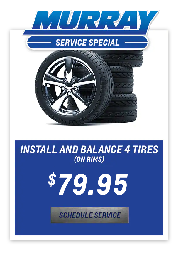 Install and Balance 4 Tires (on Rims) $79.95