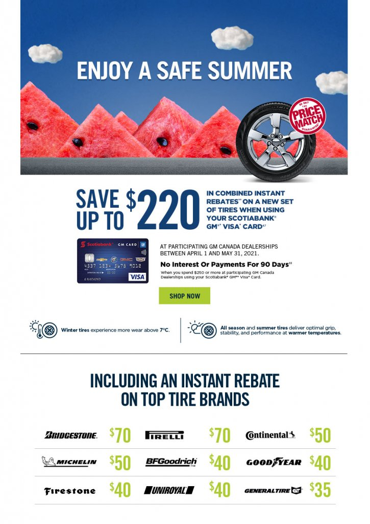 Tire Savings at Dean Cooley GM! Save up to $220!