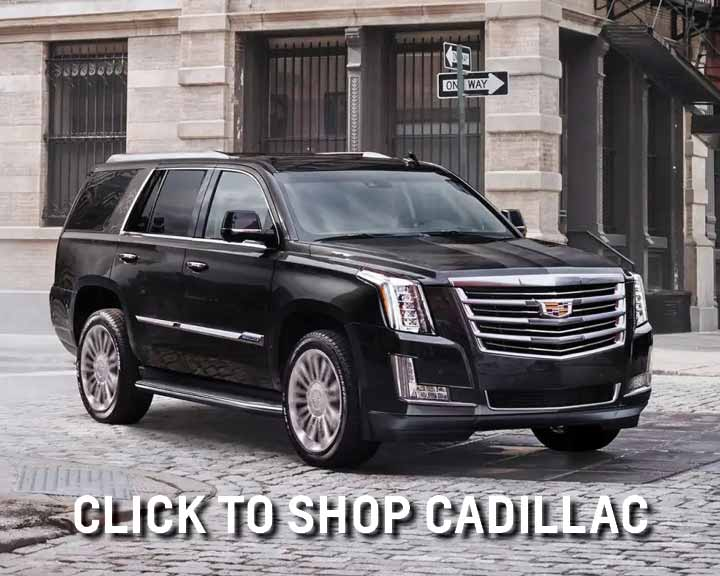 shop new cadillac vehicles
