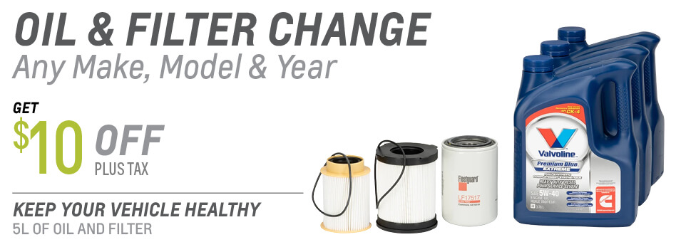 Get $10 OFF any Oil Change