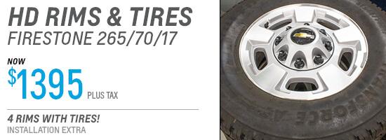 HD Rim & Tire Package